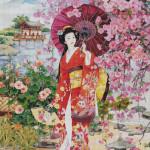 "Mozaika (projekt) ""Geisha"", 230 x 230cm"
