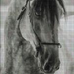 "Mozaika (projekt) ""Horse2"",  95 x 65cm"