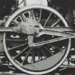 """Mozaika (projekt) """"Koło lokomotywy"""", 150 x 147cm"""
