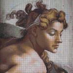 """Mozaika (projekt), Michał Anioł -  """"Ignudo 2"""", 135 x 150cm"""