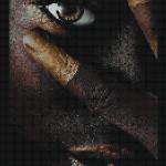 "Mozaika (projekt) ""Negro girl"", 100 x 205cm"