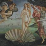 """Mozaika wielkoformatowa (projekt), """"Narodziny Wenus"""", 280 x 205cm"""