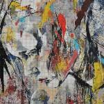 """Mozaika (projekt) """"Kobieta w abstrakcji"""", 130 x 120cm"""