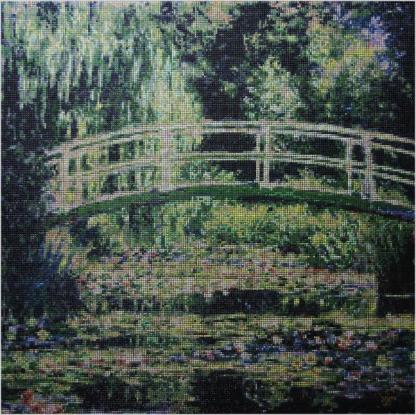 """<br/><br/><font size=""""6"""">Mostek japoński</font><br/><font size=""""3"""">150 x 150 cm</font><br/>inspiracja: Claude Monet"""