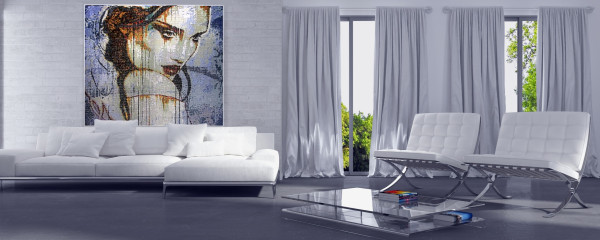 "Mozaika ""Nostalgia"", 134 x 134 x 3cm, waga 20kg, symulacja"