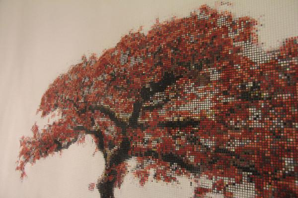 "Mozaika ""Bonzai"", zainstalowana, zoom"