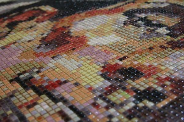"""Mozaika """"Dziewczyna z naszyjnikiem"""", 134x134x3cm, zoom"""