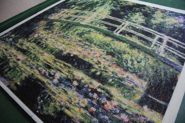 """Mozaika """"Mostek japoński"""", 150 x 150 x 3cm"""