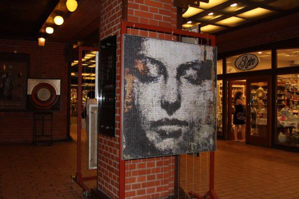 """Mozaika """"Muza"""", 120x128x3cm, w Starym Browarze 1"""