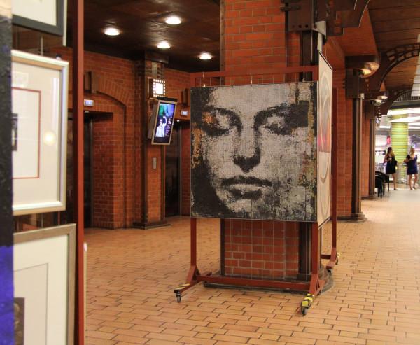 """Mozaika """"Muza"""", 120x128x3cm,  w Starym Browarze 2"""