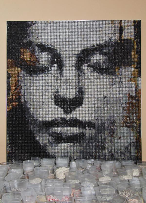 """Mozaika """"Muza"""", 120x128x3cm, w pracowni 1"""