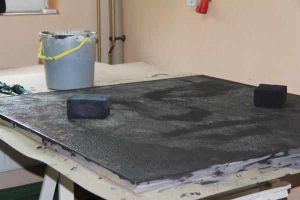 """Mozaika """"Muza"""", 120x128x3cm, w pracowni 2"""