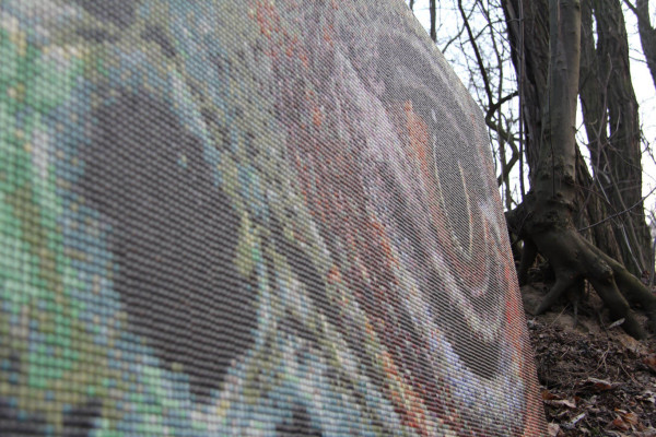"""Mozaika """"Oko Iguany"""", 150 x 95 x 3cm"""