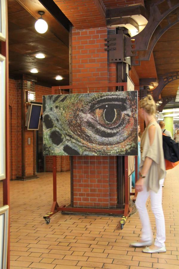 """Mozaika """"Oko Iguany"""", 150 x 95cm, w Starym Browarze (Poznań)"""